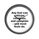 Cool Dale carnegie quote Wall Clock