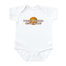 Los Angeles 2 Basketball Momm Infant Bodysuit