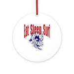 Eat Sleep Surf Keepsake (Round)
