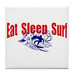 Eat Sleep Surf Tile Coaster