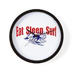 Eat Sleep Surf Wall Clock