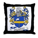 Delancey Coat of Arms Throw Pillow