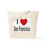 I Love San Francisco Tote Bag