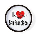 I Love San Francisco Wall Clock