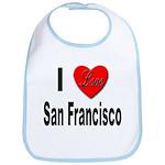 I Love San Francisco Bib