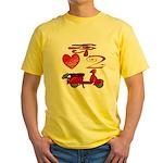 I Love 2 Scoot Yellow T-Shirt