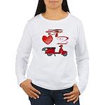 I Love 2 Scoot Women's Long Sleeve T-Shirt