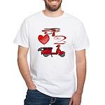 I Love 2 Scoot White T-Shirt