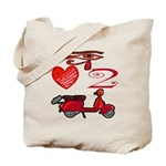 I Love 2 Scoot Tote Bag