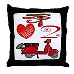 I Love 2 Scoot Throw Pillow