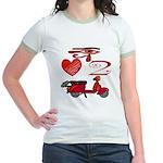 I Love 2 Scoot Jr. Ringer T-Shirt