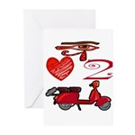 I Love 2 Scoot Greeting Cards (Pk of 20)