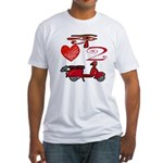 I Love 2 Scoot Fitted T-Shirt