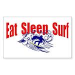 Eat Sleep Surf Rectangle Sticker