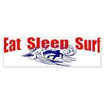 Eat Sleep Surf Bumper Sticker