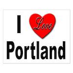 I Love Portland Small Poster