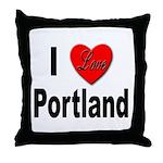 I Love Portland Throw Pillow