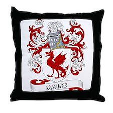 Drake Coat of Arms Throw Pillow
