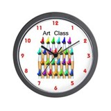 Cute Art class Wall Clock