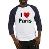 I Love Paris (Front) Baseball Jersey