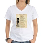 Wanted Cherokee Bill Women's V-Neck T-Shirt