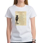 Wanted Cherokee Bill Women's T-Shirt