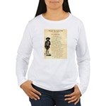 Wanted Cherokee Bill Women's Long Sleeve T-Shirt