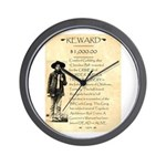 Wanted Cherokee Bill Wall Clock