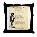 Wanted Cherokee Bill Throw Pillow