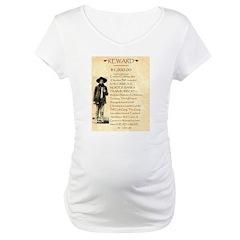 Wanted Cherokee Bill Maternity T-Shirt