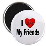 I Love My Friends Magnet