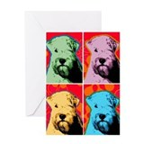 Wheaten Pop Art Greeting Card