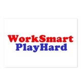 Work Smart Play Hard Postcards (Package of 8)