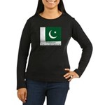 Pakistan Women's Long Sleeve Dark T-Shirt