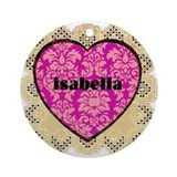Isabella Ornament (Round)