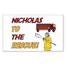 Nicholas to the Rescue! Rectangle Decal