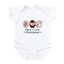 Peace Love Shakespeare Infant Bodysuit