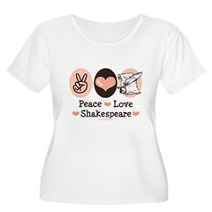 Peace Love Shakespeare Women's Plus Size Scoop Nec