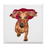 Super Dog Doxies Tile Coaster