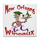 New Orleans Wineaux Tile Coaster