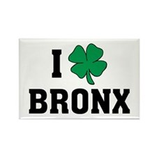 I Shamrock Love Bronx Rectangle Magnet