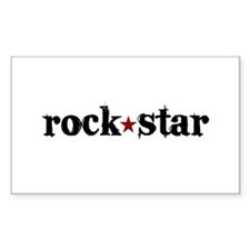 Rock Star Rectangle Decal