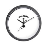 """I love Hookah"" Wall Clock"