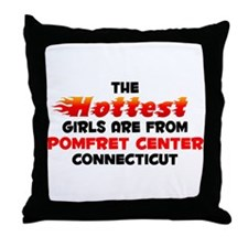 Hot Girls: Pomfret Cent, CT Throw Pillow