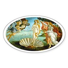 Birth of Venus Oval Decal