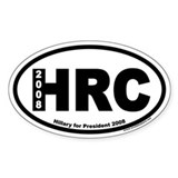 Hillary Clinton for President HRC Oval Decal