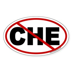 No Che! Euro Style Oval Sticker