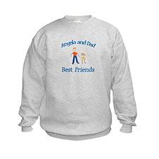 Angela & Dad - Best Friends Sweatshirt