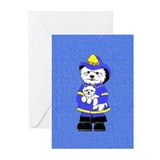 Nat'l Westie Rescue Blue Logo  Greeting Cards (Pac