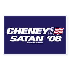 """Cheney-Satan '08"" Rectangle Decal"